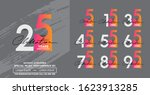 set of anniversary poster color ...   Shutterstock .eps vector #1623913285