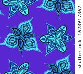 seamless paisley pattern.... | Shutterstock .eps vector #1623917362