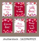set valentine's day greeting... | Shutterstock .eps vector #1623969925