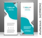 roll up banner vertical. modern ... | Shutterstock .eps vector #1623980542