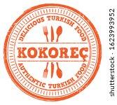 kokorec. delicious turkish food.... | Shutterstock .eps vector #1623993952