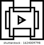 video player for web  vector...