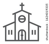 church line icon  religion and... | Shutterstock .eps vector #1624019335