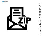zip file icon isolated sign...
