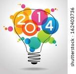 vector 2014 happy new year... | Shutterstock .eps vector #162403736
