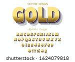3d  font.  typeface. abc.vector.... | Shutterstock .eps vector #1624079818