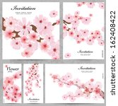 set of floral cards for your... | Shutterstock .eps vector #162408422