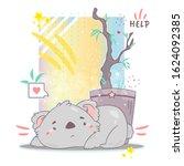 vector cartoon illustration on...   Shutterstock .eps vector #1624092385