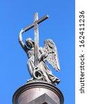 angel statue on top of... | Shutterstock . vector #162411236