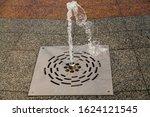 Modern Dry Fountain. A Vertica...