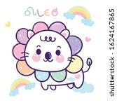 leo zodiac cartoon  sagittarius ...   Shutterstock .eps vector #1624167865