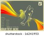 retro urban dancer | Shutterstock .eps vector #16241953
