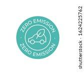 zero emission vector icon....   Shutterstock .eps vector #1624225762