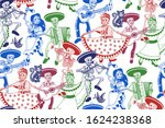 seamless pattern. day of the... | Shutterstock .eps vector #1624238368