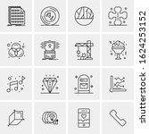 16 business universal icons...   Shutterstock .eps vector #1624253152