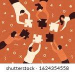 business concept. team metaphor....   Shutterstock .eps vector #1624354558