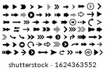 arrow icons set. vector... | Shutterstock .eps vector #1624363552