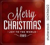 christmas typographic... | Shutterstock .eps vector #162436622