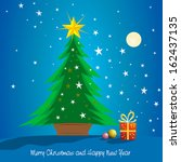 beautiful christmas tree with... | Shutterstock . vector #162437135