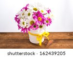 bouquet of pink and white... | Shutterstock . vector #162439205