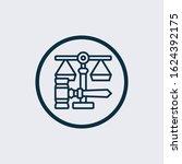 gavel icon. thin linear gavel... | Shutterstock .eps vector #1624392175