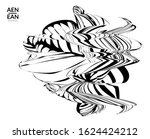 abstract striped shape. optical ... | Shutterstock .eps vector #1624424212