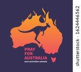 pray for australia. australia... | Shutterstock .eps vector #1624446562