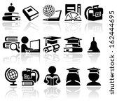 school vector icon set | Shutterstock .eps vector #162444695