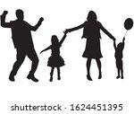 family black silhouettes ... | Shutterstock .eps vector #1624451395