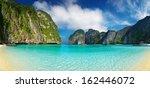 tropical beach  maya bay ...   Shutterstock . vector #162446072