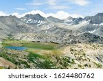 Panorama Of An Alpine Lake And...