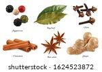 spices and herbs. peppercorn ... | Shutterstock .eps vector #1624523872