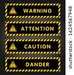 attention  danger  caution ...   Shutterstock .eps vector #1624567948