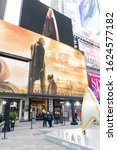 "Small photo of New York, NY - January 23, 2020: CBS ""Star Trek: Picard"" creates fan zone for promotion on Times Square"