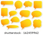 isolated speech bubbles in...   Shutterstock .eps vector #162459962