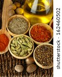 many different spices and... | Shutterstock . vector #162460502