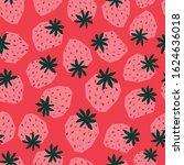 Seamless Pattern Strawberry...