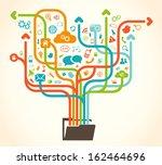 social network tree | Shutterstock .eps vector #162464696