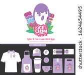 purple letter q delicious... | Shutterstock .eps vector #1624654495