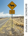 Caution Sign  Feral Donkeys...