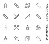 art drawing tool line icons set.... | Shutterstock .eps vector #1624702432