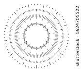 measuring circle icon. circular ... | Shutterstock .eps vector #1624705522