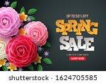 Spring Sale Vector Flowers...