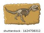 dinosaur fossil skeleton in the ...   Shutterstock .eps vector #1624708312