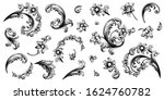 flower vintage scroll baroque... | Shutterstock .eps vector #1624760782