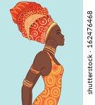 portrait of beautiful african... | Shutterstock .eps vector #162476468