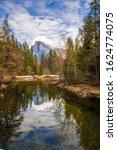 Small photo of Half dome in Yosemite from sentinel bridge