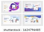 online shopping set. customers... | Shutterstock .eps vector #1624796485