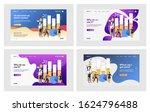 marketing report set.... | Shutterstock .eps vector #1624796488