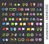 different simple navigation... | Shutterstock .eps vector #162481502